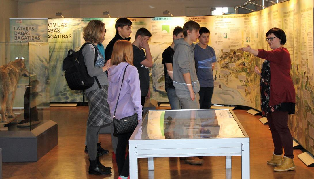 "Guided tour at the exhibition ""Nature's abundance in Latvia"""