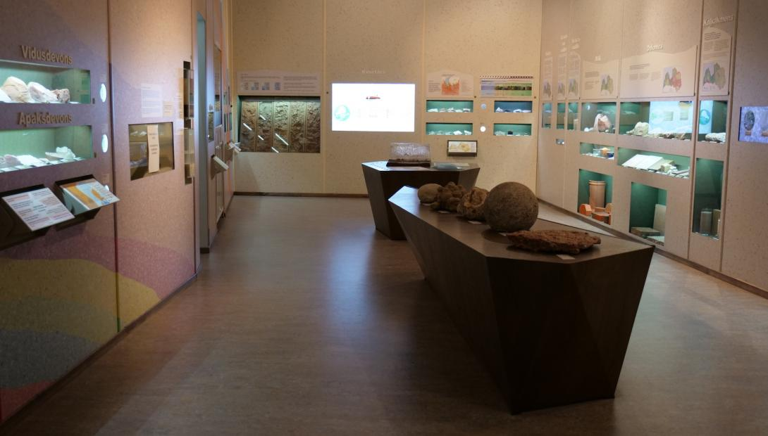 "The exhibition ""Geology of Latvia"""